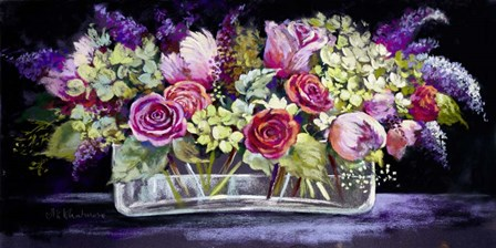Roses and Lilacs by Nell Whatmore art print