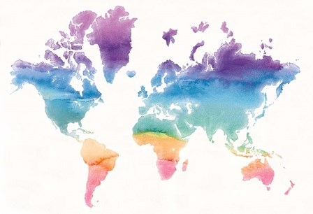 Watercolor World by Mike Schick art print