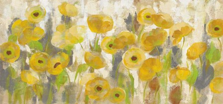 Floating Yellow Flowers I by Silvia Vassileva art print