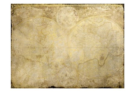 World Map in Gold by Kimberly Allen art print