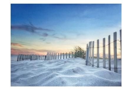 Fenced Sunset by Joseph Rowland art print