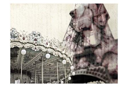 Vintage Carousel by Tracey Telik art print