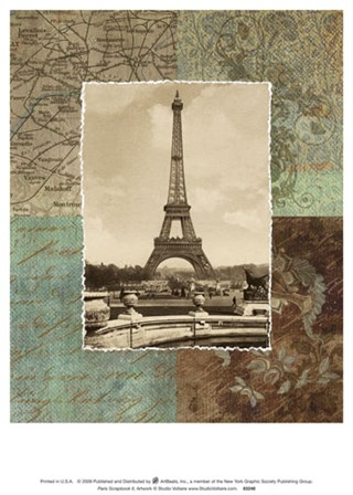 Paris Scrapbook II art print