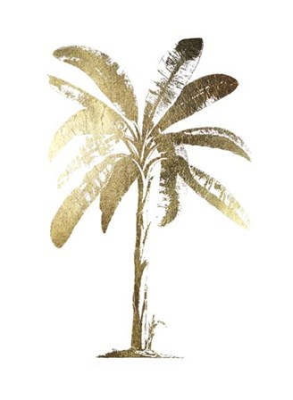 Gold Foil Tropical Palm II- Metallic Foil by Vision Studio art print