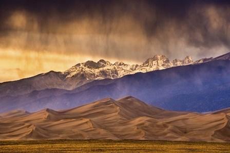 Desert and Mountains by Dan Ballard art print