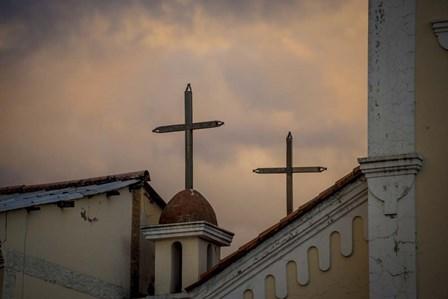 Church Rooftop by Dan Ballard art print
