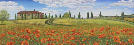 Tuscan Poppies by Jean Plout art print