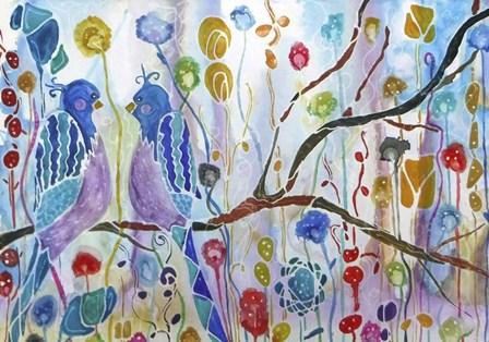 Twittering by Lauren Moss art print