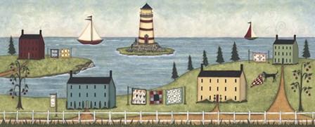 Lighthouse Island by Robin Betterley art print