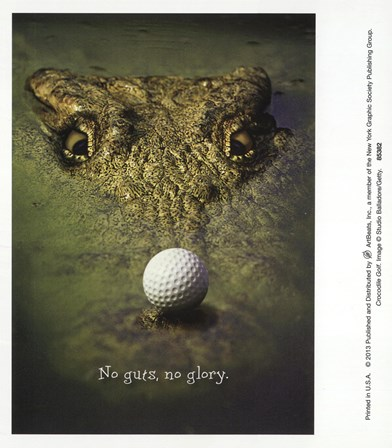 Crocodile Golf art print