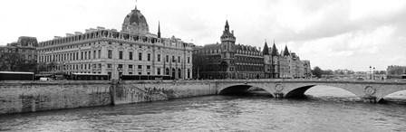 Pont au Change over Seine River, Palais de Justice, La Conciergerie, France by Panoramic Images art print