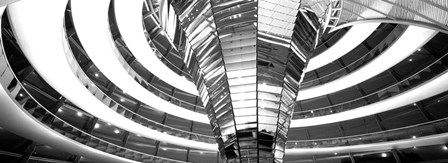 Interiors of a government building, The Reichstag, Berlin, Germany BW by Panoramic Images art print
