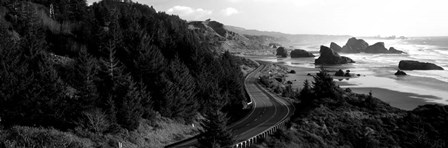 Highway along a coast, Highway 101, Pacific Coastline, Oregon by Panoramic Images art print