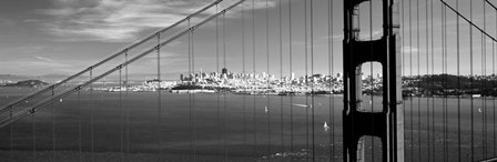 Golden Gate Bridge with San Francisco in the background, California by Panoramic Images art print