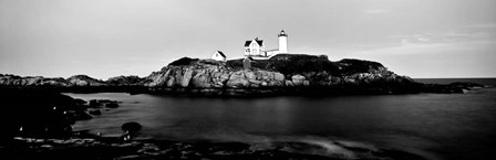 Nubble Lighthouse, Cape Neddick, York, Maine by Panoramic Images art print