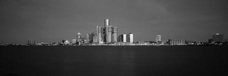 Buildings at waterfront, Detroit, Michigan by Panoramic Images art print