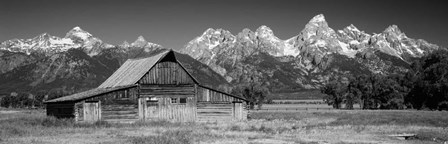 Old barn on a landscape, Grand Teton National Park, Wyoming by Panoramic Images art print