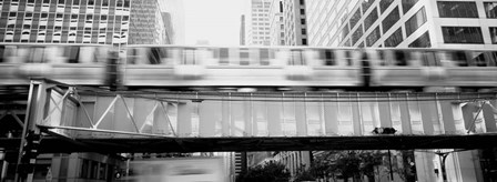 The EL Elevated Train Chicago IL by Panoramic Images art print