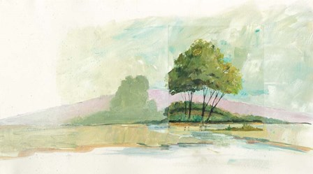 Lake Front II Dark by Avery Tillmon art print
