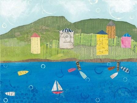 Coastal Harbor II by Courtney Prahl art print