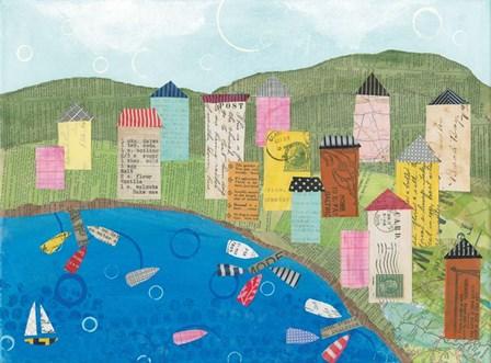 Coastal Harbor III by Courtney Prahl art print