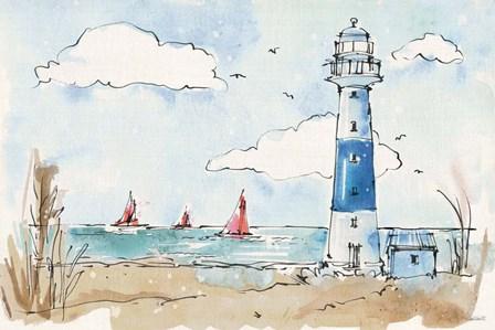 Coastal Life II by Anne Tavoletti art print