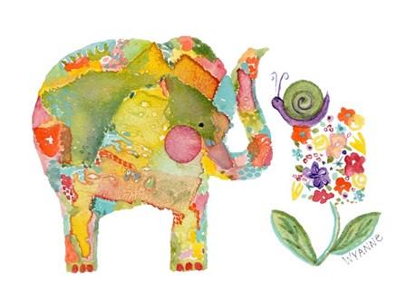 Almost Eye To Eye Elephant by Wyanne art print