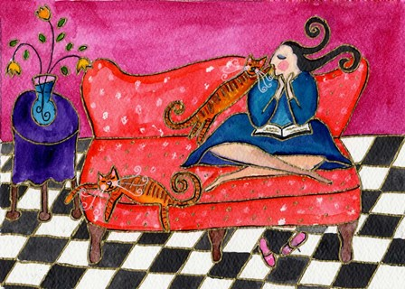 Big Diva Lazy Sunday by Wyanne art print