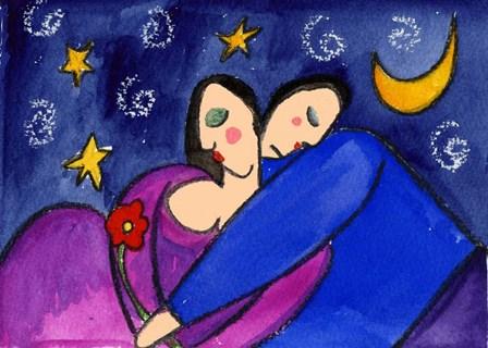 Big Diva Star Crossed Lovers by Wyanne art print