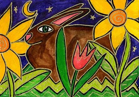 Bunny At Midnight by Wyanne art print