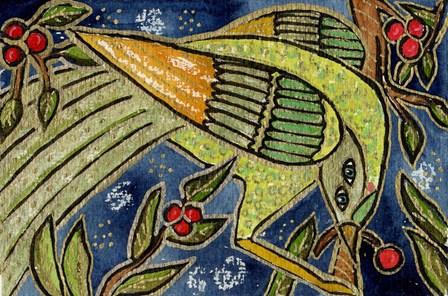 Cherry Bird by Wyanne art print