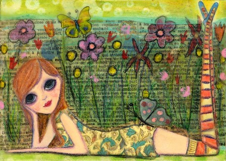 Meet Me In The Garden by Wyanne art print