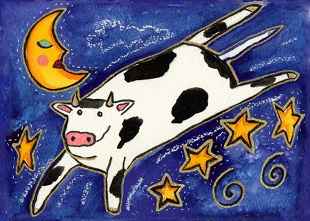 The Cow That Jumped Over The Moon by Wyanne art print