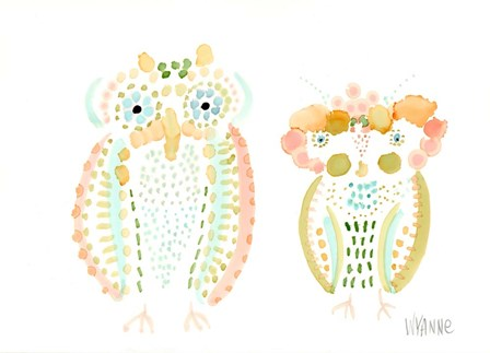 Birds of a Feather by Wyanne art print
