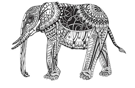 Elephant by Shacream Artist art print