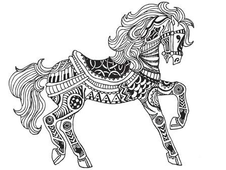 Horsey by Shacream Artist art print