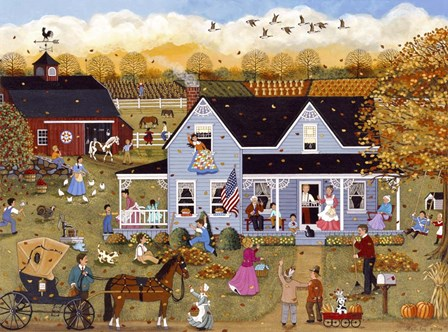 Thanksgiving Eve by Sheila Lee art print
