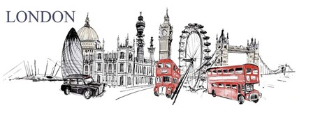 London by Symposium Design art print