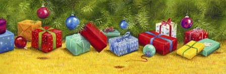 Christmas Border 1 by Janet Pidoux art print