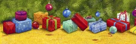 Christmas Border 2 by Janet Pidoux art print