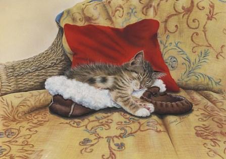 Comfy Slipper by Janet Pidoux art print