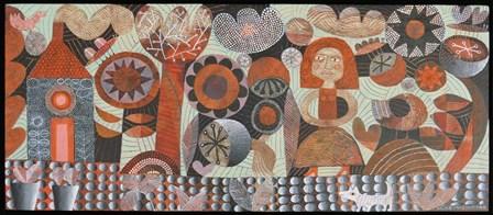 Woman In Orange Garden by Hilke MacIntyre art print