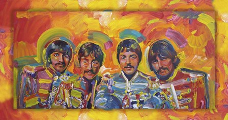 Beatles Sgt Peppers by Howie Green art print