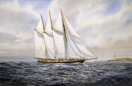 """Schooner  """"Atlantic"""" by Jack Wemp art print"""