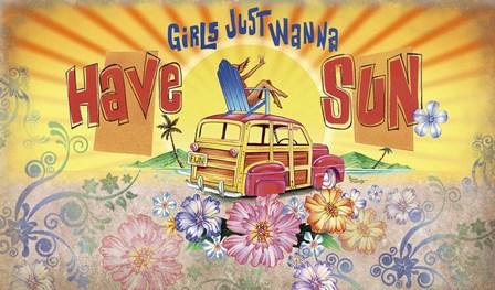 Girls Wanna Sun by James and Kathleen Mazzotta art print