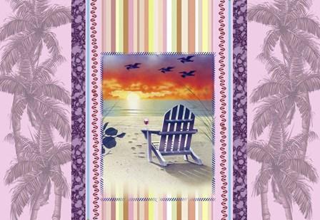 Sunset Chair Palm by James Mazzotta art print