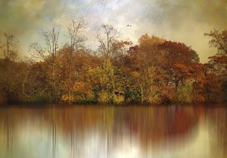 Autumn on a Pond by Jessica Jenney art print