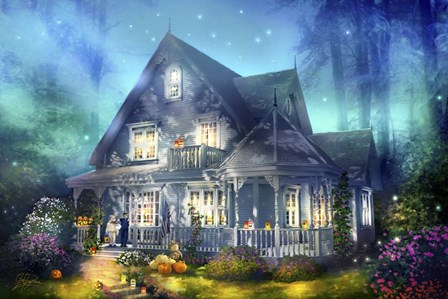 Halloween Lane by Joel Christopher Payne art print