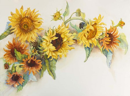 Arch of Sunflowers by Joanne Porter art print