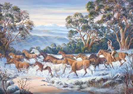 The Man From Snowy River by John Bradley art print